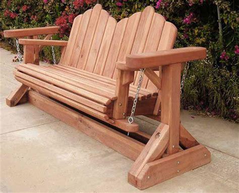 swinging bench plans redwood glider swing bench heavy duty