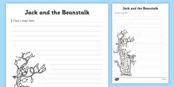 And The Beanstalk Writing Template by And The Beanstalk If I Had A Magic Bean Writing