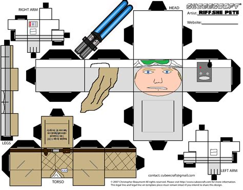 printable foldable star wars toys luke skywalker hoth cubeecraft by riffshepete on deviantart