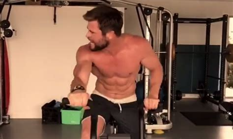 how much can chris hemsworth bench chris hemsworth shares incredible workout video