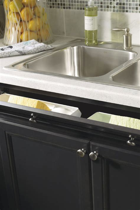 tilt out sink tray home depot thomasville sink base with tilt out drawer front
