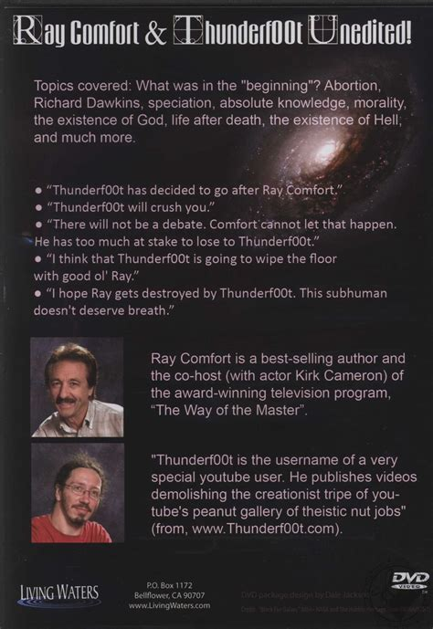 ray comfort debate ray comfort thunderf00t unedited ray comfort and