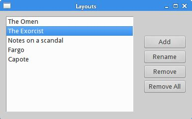 qt layout list layout management in qt4
