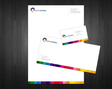 cool letterhead templates letterhead exles and ideas 60 cool stationary designs