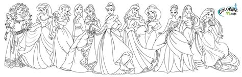 All Princess Coloring Pages july 2013 team colors