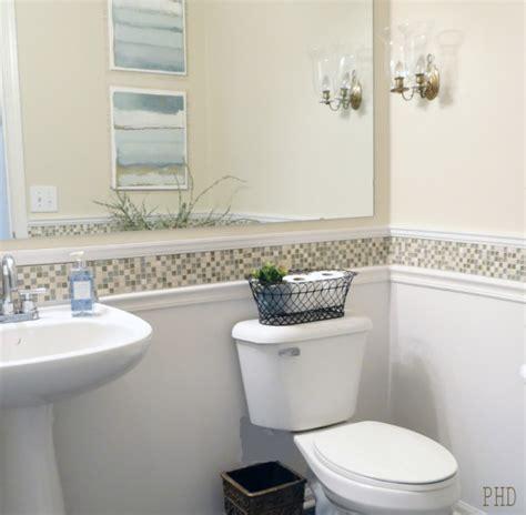 minimalist bathroom chair rail molding ideas for the