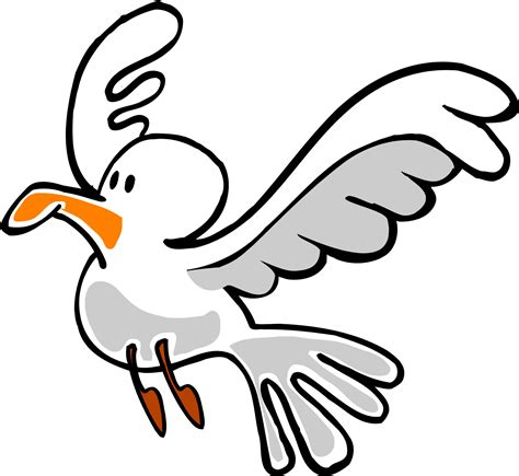 drawings of a sea bird clipart best cartoon seagull clipart best