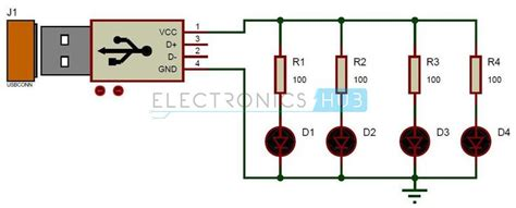 Rb 220 Resistor Ps2 8 Pin usb led l circuit creative the simple and reading