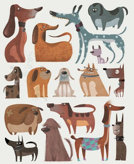 dog illustration ideas  pinterest dog art