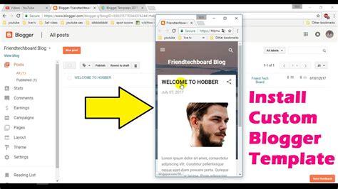blogger youtube template blogger part 6 responsive blogger templates kaise add
