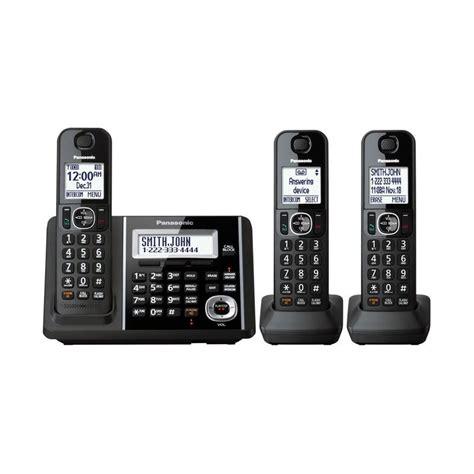 Panasonic Kx Tg3411 Telephone Wireless Hitam jual panasonic cordless phone kx tgf343 b answering machine with 3 handsets telephone wireless