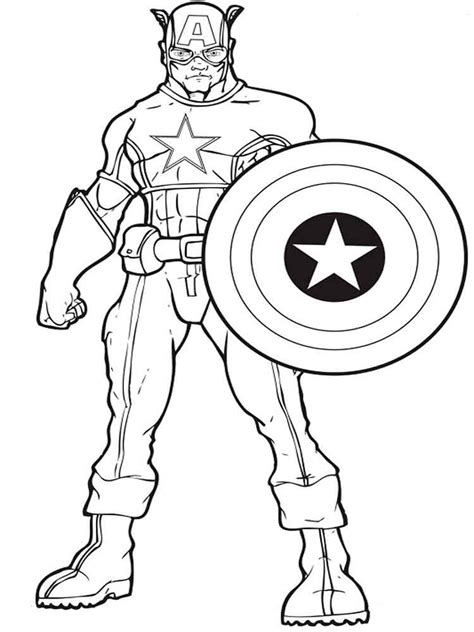 american coloring book captain america coloring pages and print captain