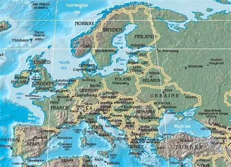 geography of europe map maps of europe region country