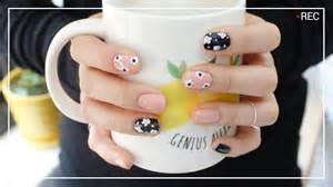 Self nail art easy and cute flower nail art youtube