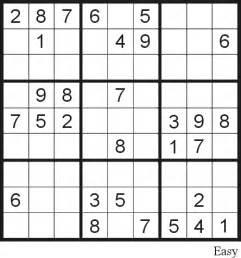 Sudoku puzzle 9 easy free printable puzzles