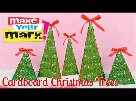 how to make a 3ft cardboard christmas tree how to cardboard trees
