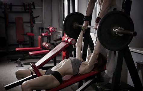sexy bench press wallpaper female workout fitness gym images for desktop