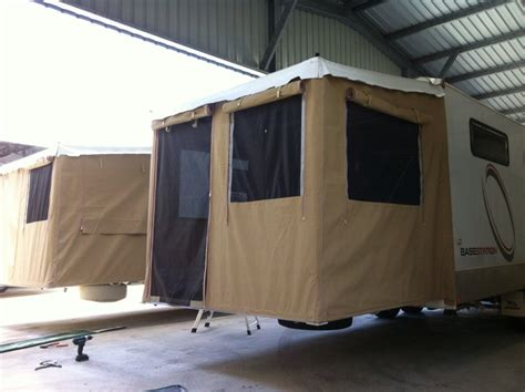 rear awning for cervan coffs harbour custom made annexes 171 coffs canvas