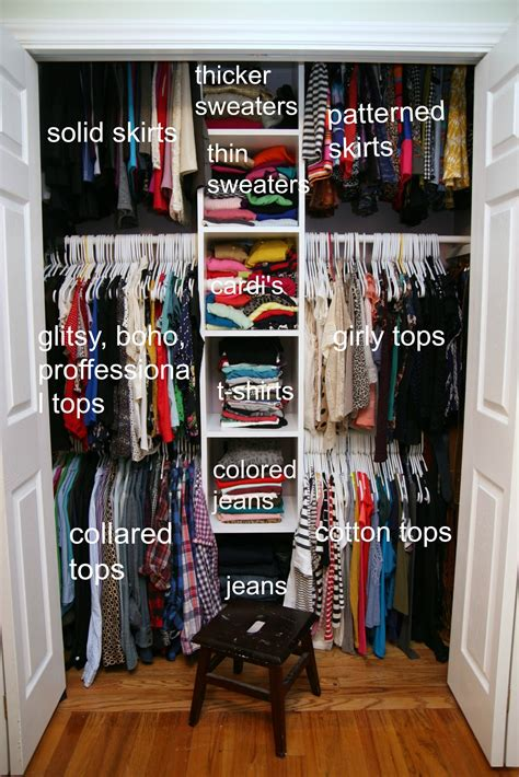 clothing organization 1000 ideas about small bedroom closets on pinterest