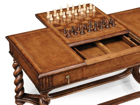 Walnut Parquetry Coffee Table With Reversible Chess Board Coffee Table Chess Board