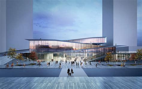 design contest for rail stations makeover kengo kuma unveils railway station for the grand paris express