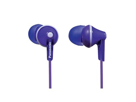 electronic city panasonic earphone violet rp tcme