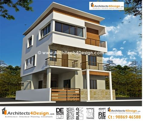 house construction plans india 3 storey south indian house design kerala home 3 floor building plan in india