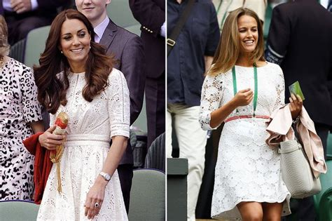kate middleton at wimbledon 2014 get the look white broderie anglaise shades waves