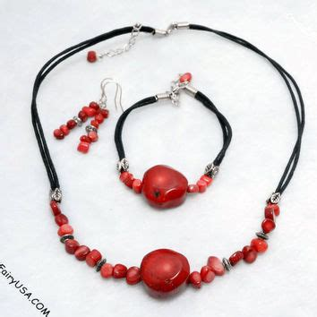 Cora Necklace Kalung Handmade Pink shop coral necklaces and bracelets on wanelo