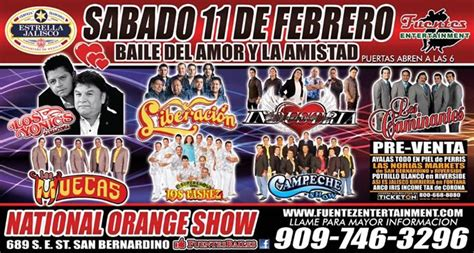 baile de san valentin 2017 at the national orange show nos