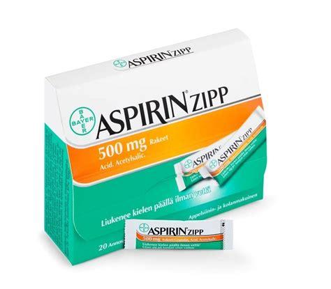 Cardio Aspirin 10 aspirin zipp 500 mg 10 annospussia apteekkituotteet fi