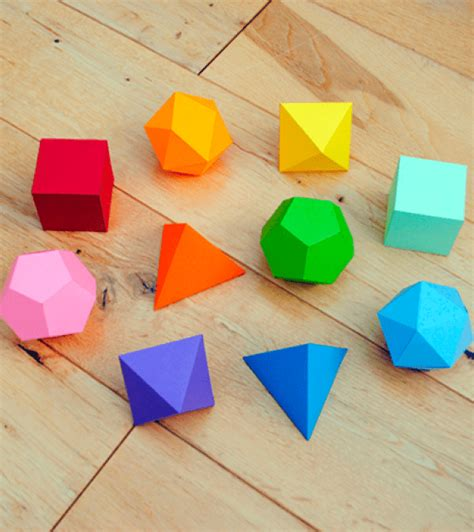 figuras geometricas en 3d para armar figuras geom 233 tricas en 3d material para maestros