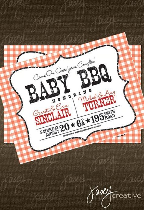 Baby Shower Bbq Invitations by Baby Bbq Invitation