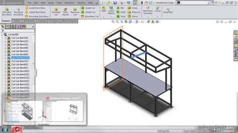 Tutorial Solidworks Weldments | solidworks weldments tutorial managing the cut list