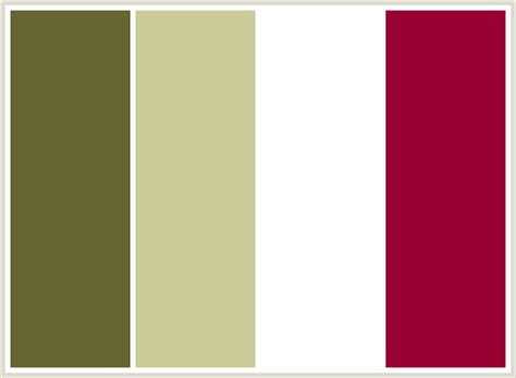 color combinations with white colorcombo6 with hex colors 666633 cccc99 ffffff 990033