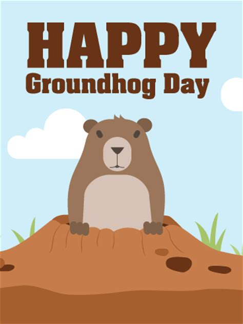 groundhog day and happy day cards birthday greeting cards by davia free