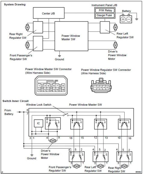 power window wiring diagram toyota hiace html