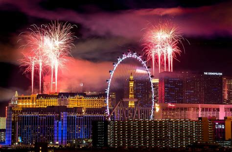 new year 2018 in vegas las vegas revelers as patrol photos