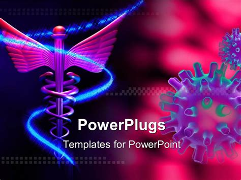 virus powerpoint template free powerpoint template symbol and virus pink