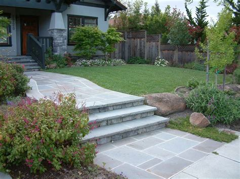 elegant front steps and walkway