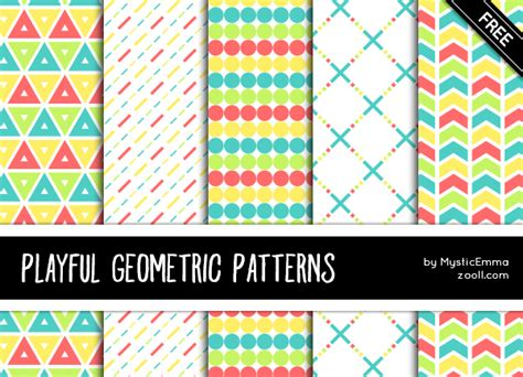 fontspace pattern goodies playful geometric patterns