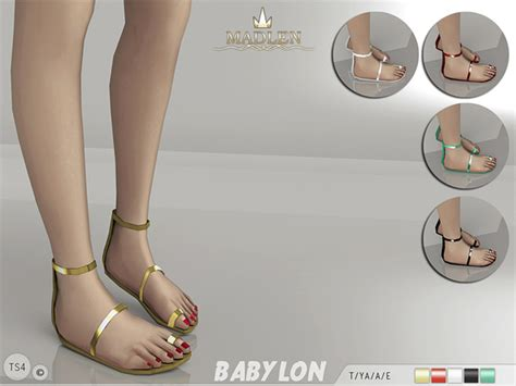 sims 4 shoes the sims resource mj95 s madlen babylon sandals