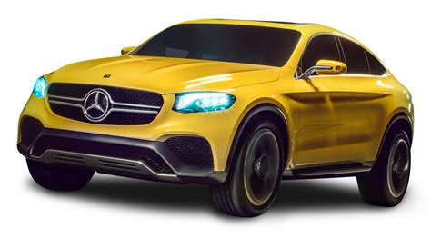 car mercedes png mercedes glc coupe yellow car png image pngpix