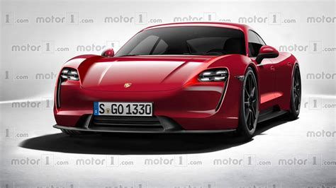 porsche mission e red porsche mission e rendered in production form