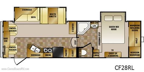 crossroads cruiser fifth wheel floor plans 2012 crossroads cruiser cf28rl fifth wheel unit details