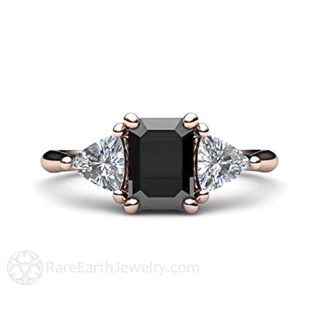 black engagement ring 3 vintage black