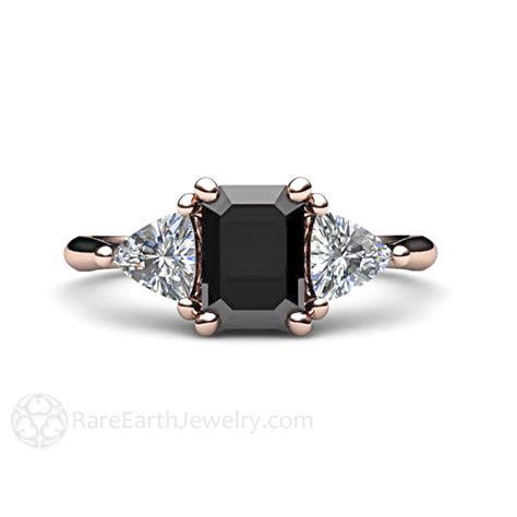 black diamond black diamond engagement ring vintage black diamond 3 stone