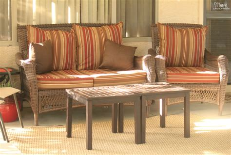 lowes allen roth patio furniture patio makeover