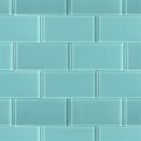 Glass Tiles | shop for loft turquoise polished 3 x 6 glass tiles at