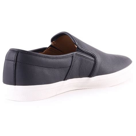 lacoste premium leather gazon mens leather shoes in black